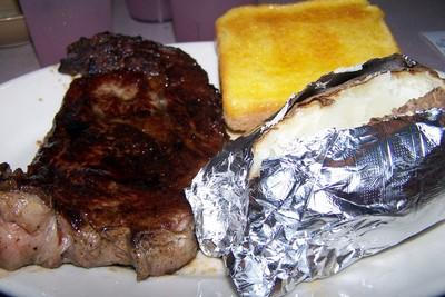 my steak - 10 oz rib eye medium rare $9.99