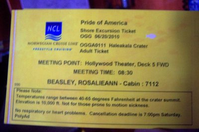Haleakala Tour Ticket