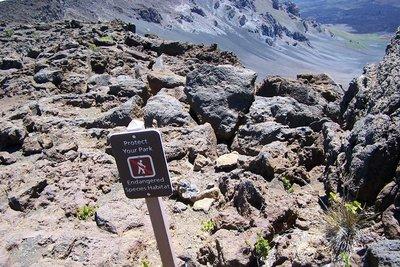 Endangered species habitat sign