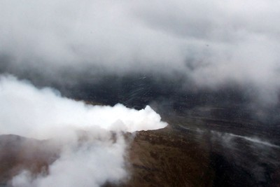 Mauna Loa Volcano from the helicopter