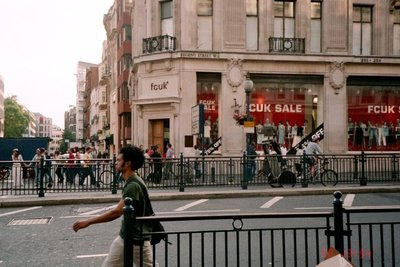 F.C.U.K.: Not a Joke? Department stores on the way back to the hotel