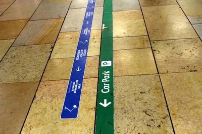 Direction lines on the Floor of Paddington