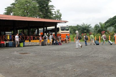 Transfer point - bus to boat