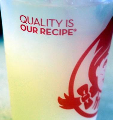 Wendy's drink cup - Lemonade $1.99