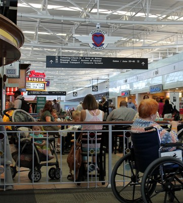 Hobby Airport from a wheelchair