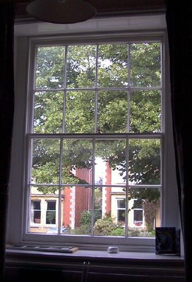 Our bedroom window which looked out on the street