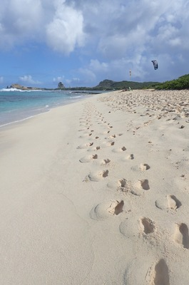 Footsteps along the sand