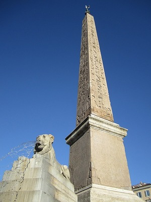 Egyptian column in Piazza del Popolo