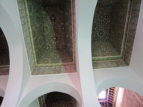 Intricately carved ceilings