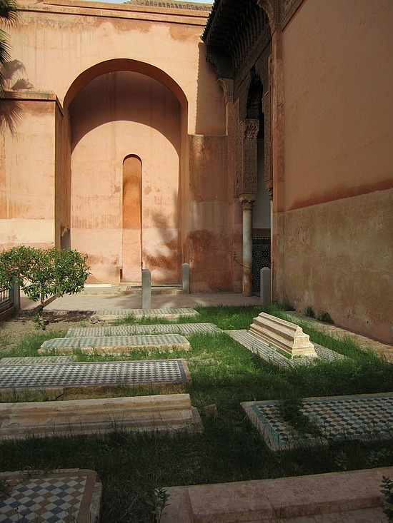 The grounds are full of tombs