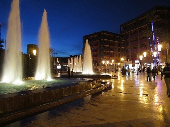 Place du 16 Novembre fountains