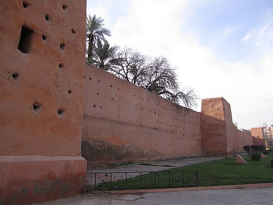 The exterior walls of old Marrakesh