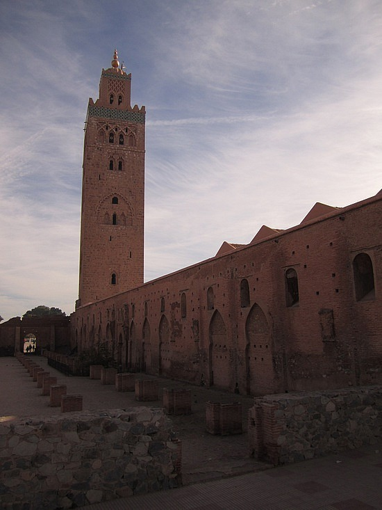 Walking behind the Koutoubia mosque