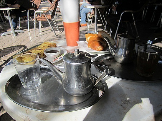 First mint tea in Morocco