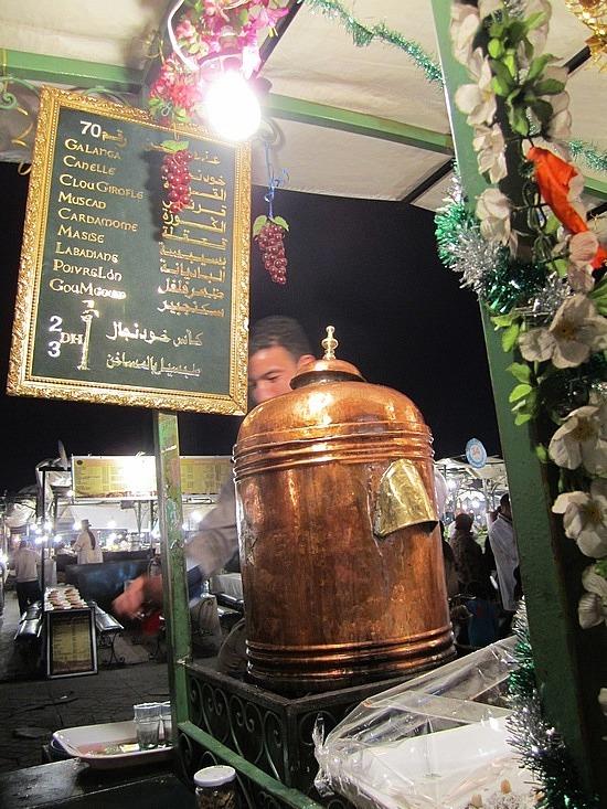 Spiced tea cart in the Djemma el-Fna