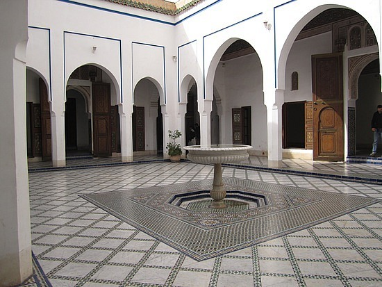 Serene interior courtyards
