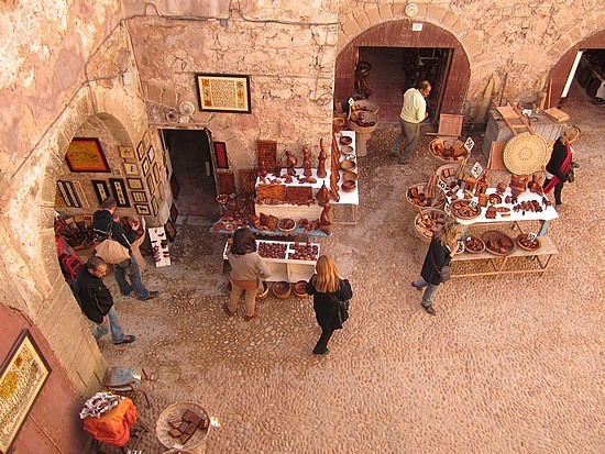 Woodworking souks along the outer walls