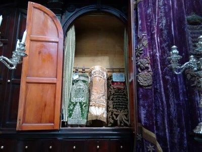 Tangier Nahon Synagogue Torah scrolls
