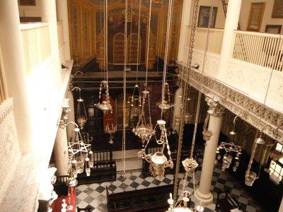 Tangier Synagogue Nahon hanging lamps