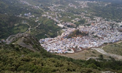 Chefchaouen Morocco, the town on the mountainside