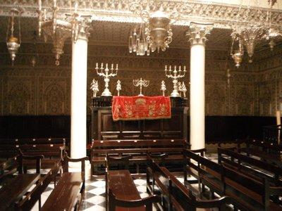 Tangier Synagogue Nahon interior and circumcision altar