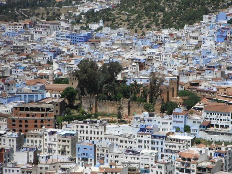 Chefchaouen Kasbah in centre of town