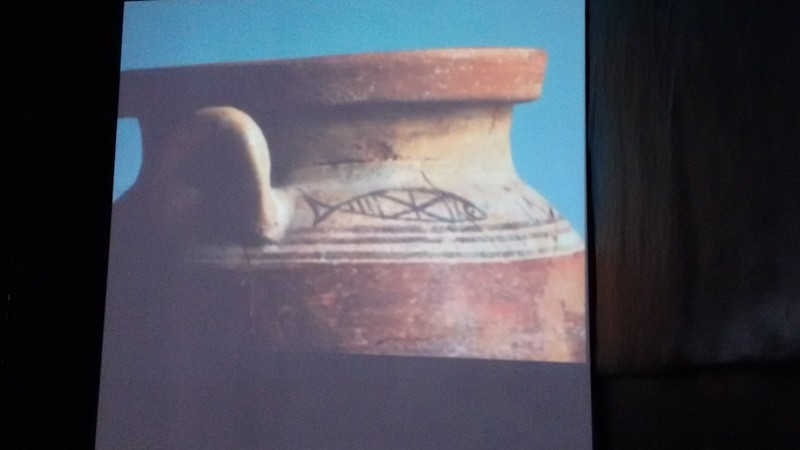 Tangier Sultan's palace a Phoenician fish pot on video display