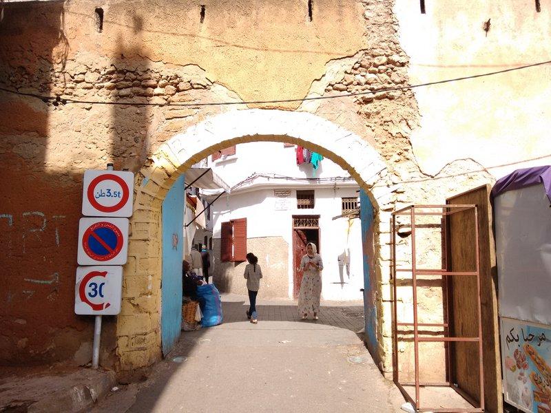 Casablanca medina entrance gate off Rue Tarik Aloui