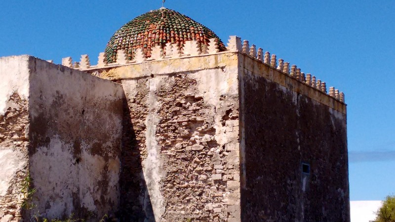 Essaouira, Mausoleum of Sidi Magdoul badly-ravaged by corrosive winter gales