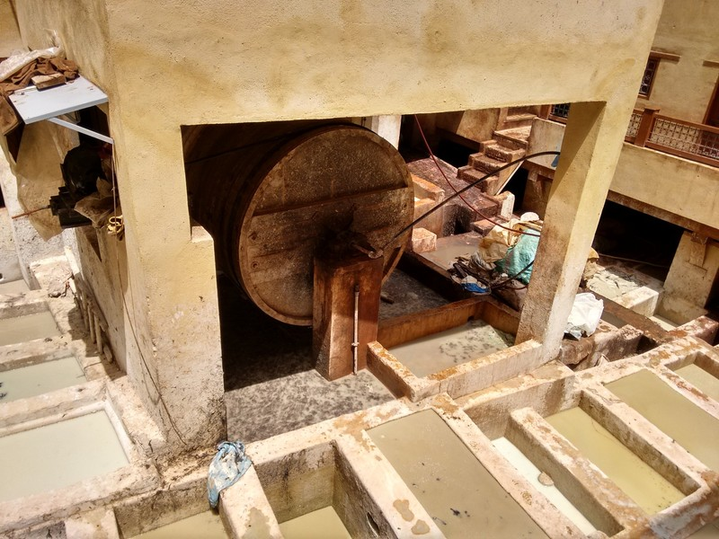 Fes el Bali Choara tannery washing machine