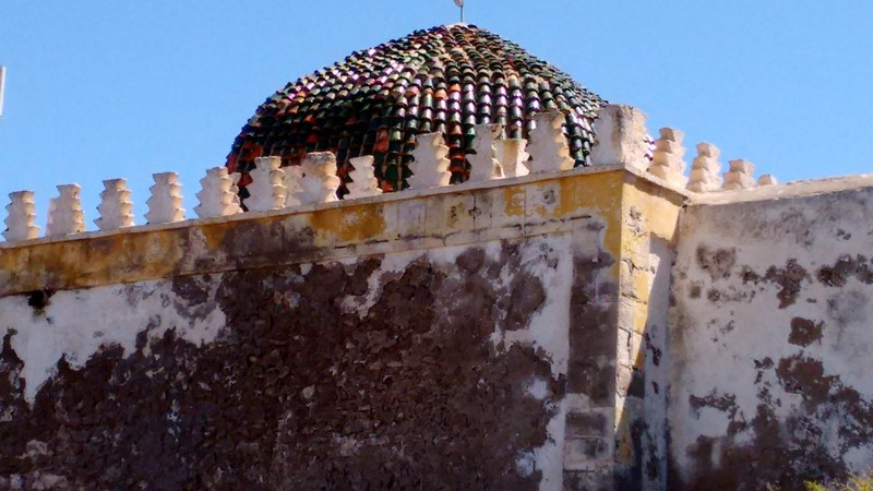 Essaouira colourful detail of Mausoleum Sidi Magdoul