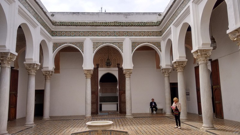 Tangier Kasbah the courtyard inside the palace