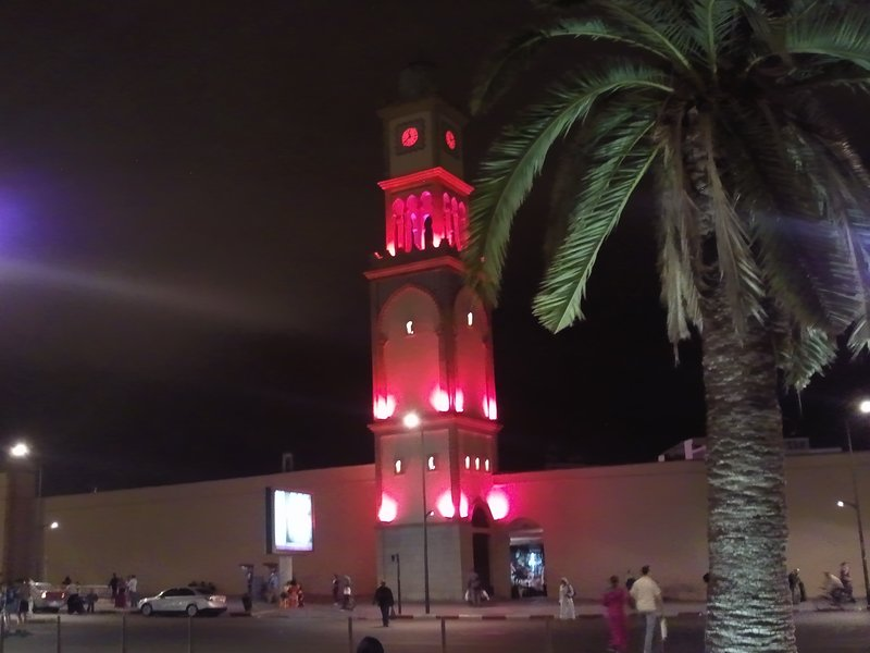 Casablanca the clock tower by night