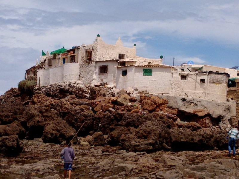 Casablanca, Morocco, Ain Diab beach, Mausoleum of Sidi Abderrahman