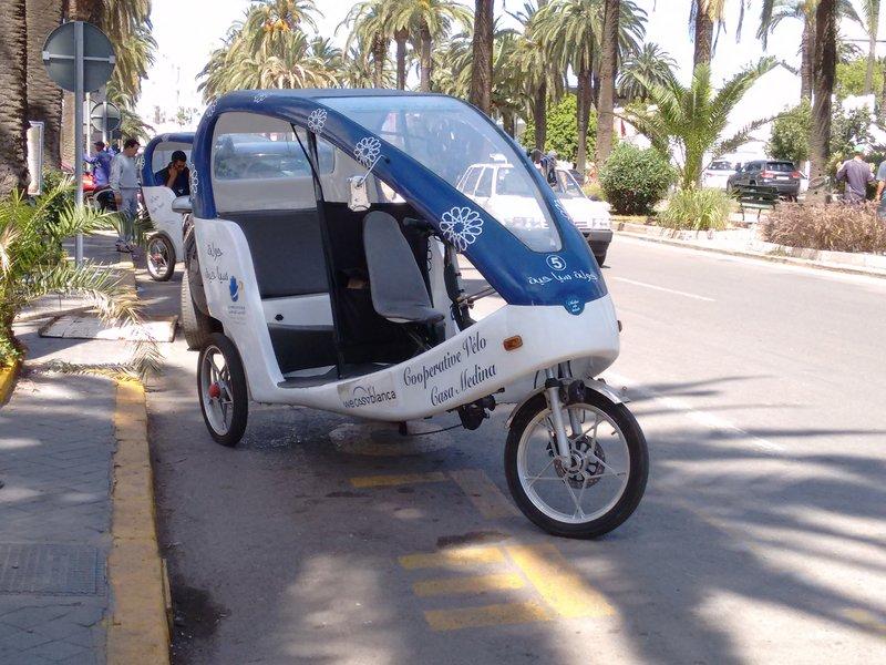 "Casablanca, Morocco,  Old Medina tours by pedal rickshaw, ""Medina Velo Balade."""