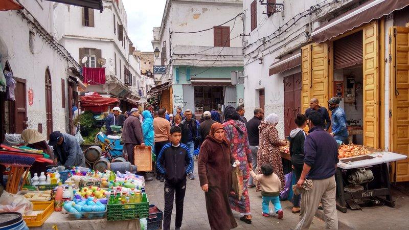Casablanca Old Medina a busy street market