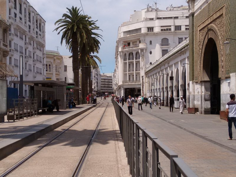 Casablanca Central Market tram stop