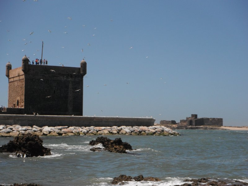 Essaouira port, Skala and offshore island fort