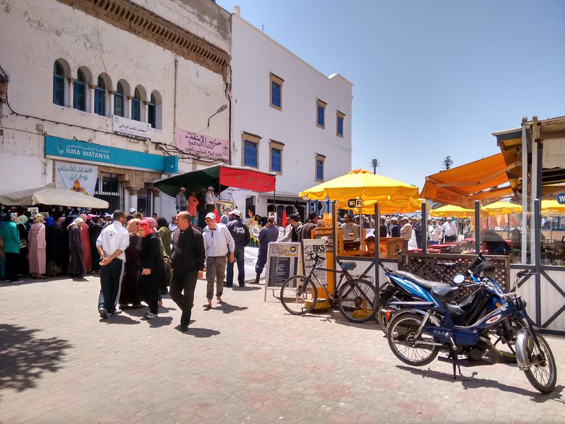 Essaouira Port, a busy UMT rally