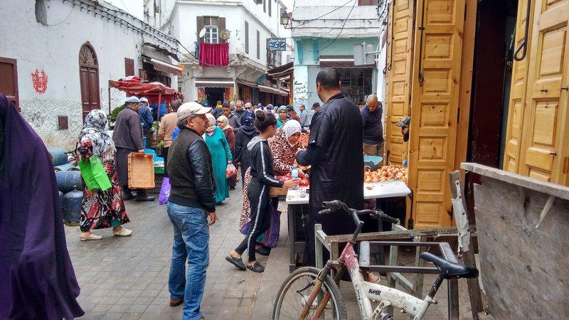 Casablanca Old Medina a typical crowded street market