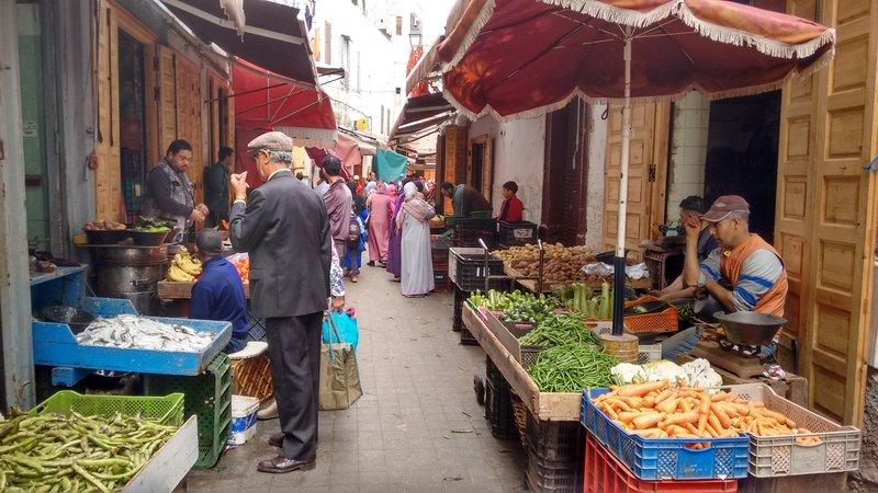 Casablanca Old Medina a vegetable street market