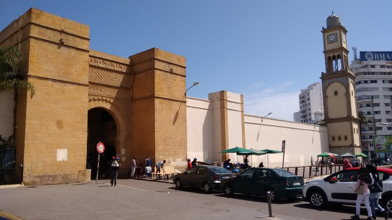 Casablanca main gate to the Old Medina beside the clock tower