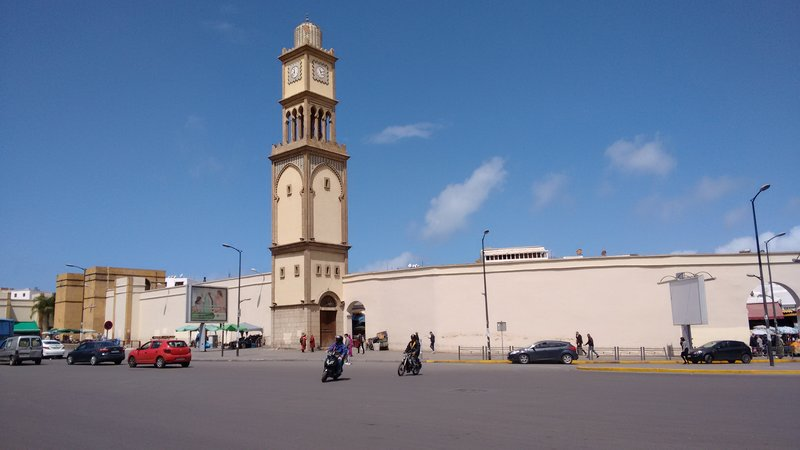 Casablanca United Nations Square and clock tower