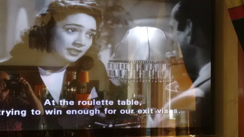 Casablanca Rick's Cafe a clip from the famous movie...