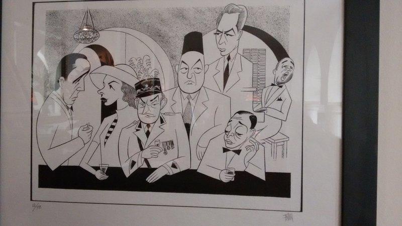 Casablanca Ricks Cafe and amusing mural...