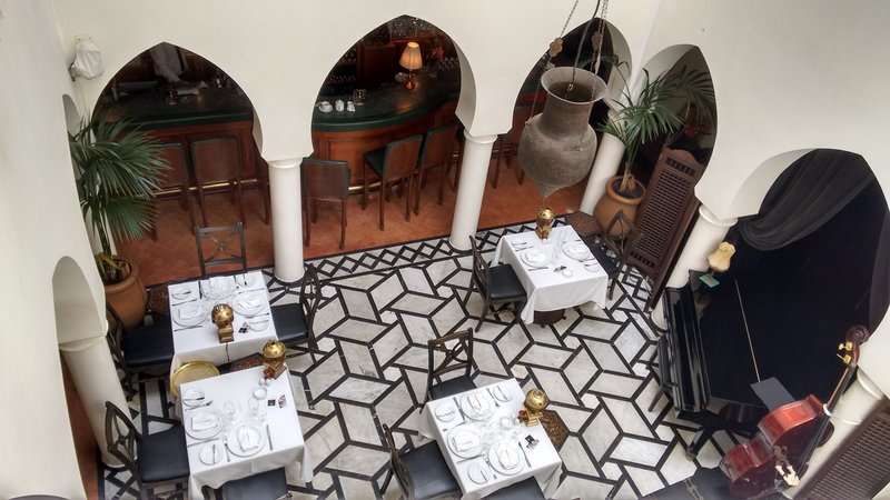 Casablanca Rick's Cafe bar and dining hall..