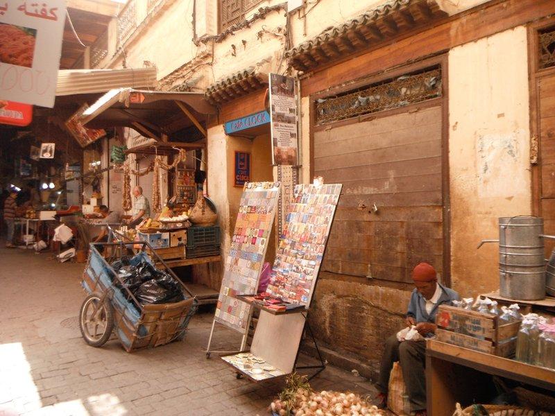 Morocco, Fes el Bali Medina, Cafe Clock, Rue Talaa Kebira.....