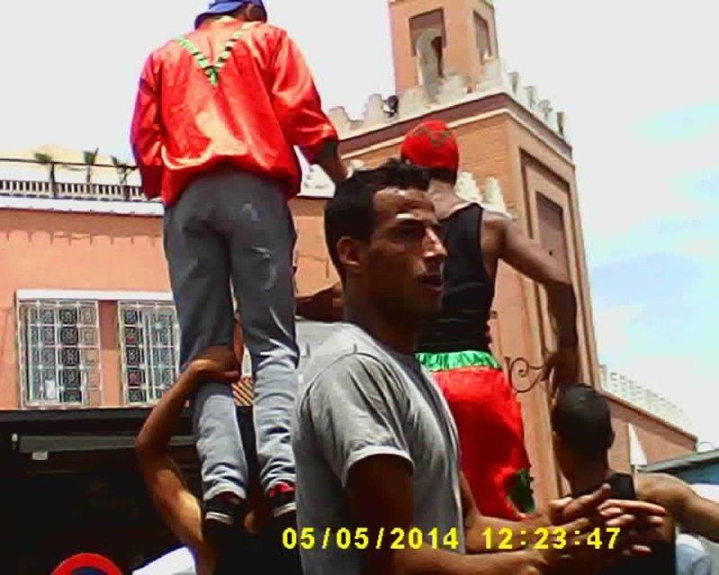 Marrakesh Djemma el Fna acrobats