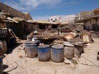 Essaouira Industrial Estate a small tannery