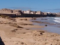 Essaouira, view of Mellah from the graveyard